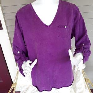 Soft surroundings purple tunic